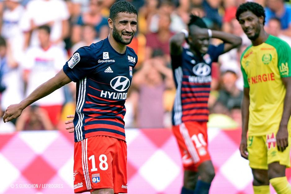 Nabil Fekir et Bertrand Traoré n'y arrivent pas face à Nantes