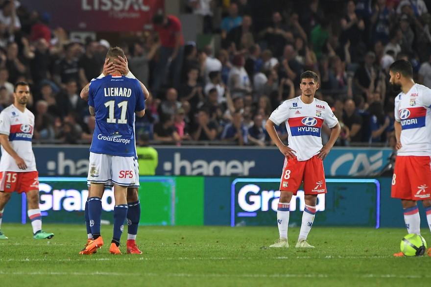 Lyonnais battus par Strasbourg en 2018