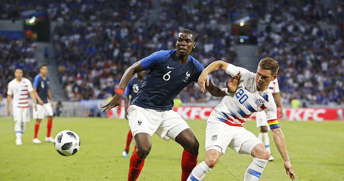 Pogba lors de France-USA