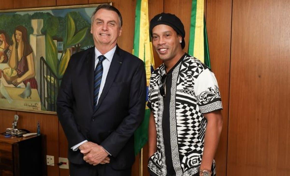 Bolsonaro et Ronaldinho / Photo : Exame