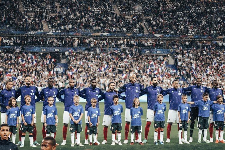 Le 11 bleu face à l'Irlande