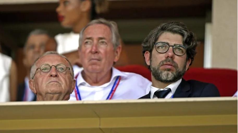 Jean-Michel Aulas, Juninho et Gérard Houllier (photo Le Progrès / Stéphane Guiochon)